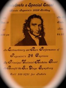 Paganini concert flier